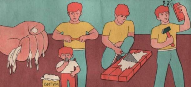 Проверка готовности раствора для укладки кирпича