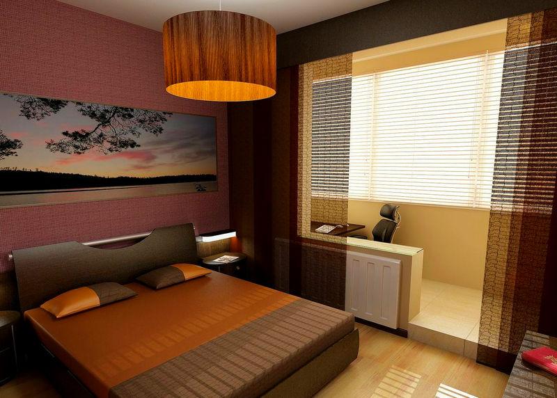 Дизайн спальни с лоджией: план работ и 10 идей использования совмещенного пространства