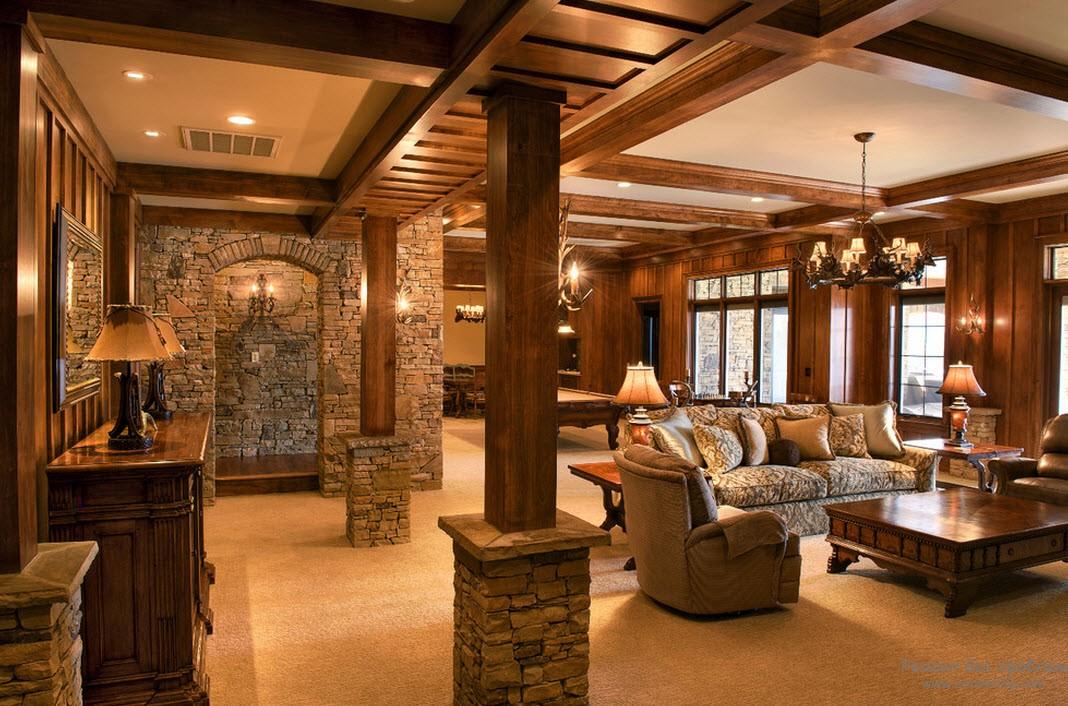 гостиная с колоннами - идеи по оформлению